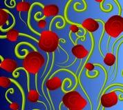 Fondo rojo abstracto de las rosas Imagen de archivo libre de regalías