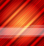 Fondo rojo abstracto de Techno, textura rayada Fotografía de archivo libre de regalías