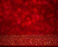Fondo rojo abstracto del bokeh Día de fiesta hermoso Foto de archivo