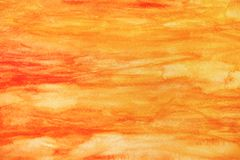 Fondo rojo amarillo abstracto de la acuarela imagenes de archivo