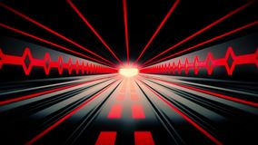 fondo rojo anaranjado del movimiento de Loopable del túnel de Tron de la ciencia ficción del movimiento Background3D de Loopable  stock de ilustración