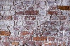 Fondo rojo antiguo de la textura de la pared de ladrillo Fotografía de archivo