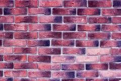Fondo rojo antiguo de la textura de la pared de ladrillo Imagen de archivo