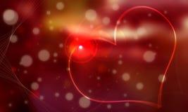 Fondo rojo blanco de la gema y del corazón cuyo él gro Imagen de archivo