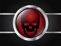 Fondo rojo brillante del cráneo Imagen de archivo