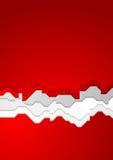 Fondo rojo brillante del vector del contraste stock de ilustración