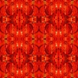 Fondo rojo chino de la linterna Imagen de archivo