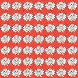 Fondo rojo colorido con pequeños ángeles en pañales ilustración del vector