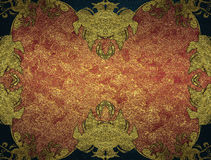 Fondo rojo con el adorno Elemento para el diseño Plantilla para el diseño copie el espacio para el folleto o la invitación del av Fotografía de archivo