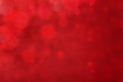 Fondo rojo con el bokeh Imagenes de archivo