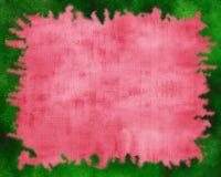 Fondo rojo con el borde verde de la chispa stock de ilustración