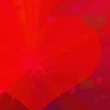 Fondo rojo con el corazón Fotografía de archivo libre de regalías