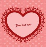Fondo rojo con el corazón Imágenes de archivo libres de regalías