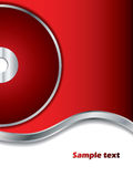 Fondo rojo con el disco Imagen de archivo
