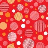 Fondo rojo con el modelo de puntos Imágenes de archivo libres de regalías