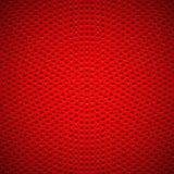 Fondo rojo con el modelo perforado del círculo Fotos de archivo libres de regalías