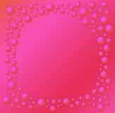 Fondo rojo con las burbujas rojas Imagen de archivo libre de regalías