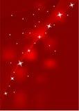 Fondo rojo con las estrellas Fotos de archivo libres de regalías
