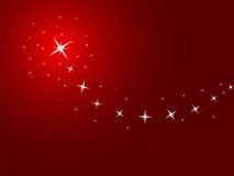 Fondo rojo con las estrellas Imágenes de archivo libres de regalías