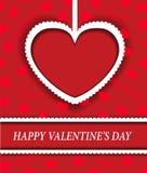 Fondo rojo con los corazones para el día de tarjeta del día de San Valentín Imágenes de archivo libres de regalías