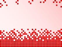 Fondo rojo con los pixeles Fotografía de archivo libre de regalías