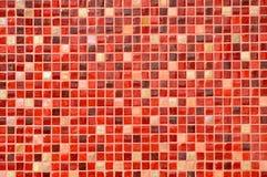 Fondo rojo de azulejo de mosaico imágenes de archivo libres de regalías