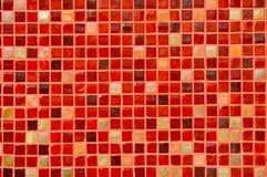 Fondo rojo de azulejo de mosaico foto de archivo