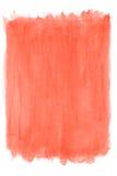 Fondo rojo de la acuarela Foto de archivo