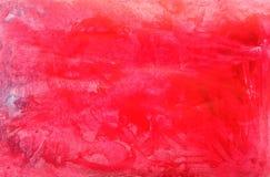 Fondo rojo de la acuarela Fondo rojo del texte de la pintura abstracta de la mano imagen de archivo libre de regalías