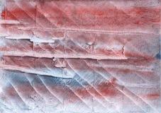 Fondo rojo de la acuarela de Gray Clouds Foto de archivo