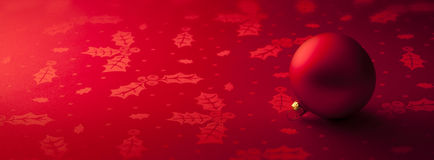 Fondo rojo de la bandera de la Navidad imágenes de archivo libres de regalías