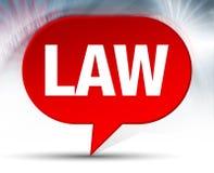 Fondo rojo de la burbuja de la ley ilustración del vector