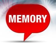 Fondo rojo de la burbuja de la memoria stock de ilustración