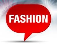 Fondo rojo de la burbuja de la moda stock de ilustración