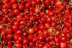 Fondo rojo de la cereza Fotografía de archivo libre de regalías