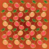 Fondo rojo de la cereza Fotografía de archivo