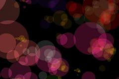 Fondo rojo de la chispa de la Navidad con el bokeh colorido, Feliz Año Nuevo del día de fiesta de Navidad Imagenes de archivo