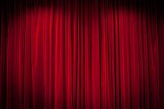 Fondo rojo de la cortina Foto de archivo libre de regalías