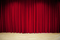 Fondo rojo de la cortina Imagen de archivo libre de regalías