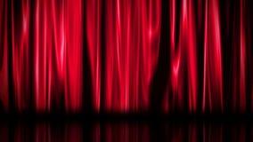 Fondo rojo de la cortina ilustración del vector