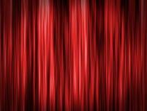 Fondo rojo de la cortina Imagenes de archivo