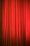 Fondo rojo de la cortina de la etapa Imagen de archivo libre de regalías