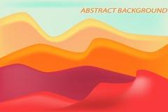 Fondo rojo de la duna y de la arena stock de ilustración