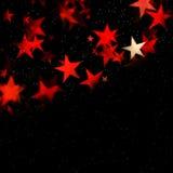 Fondo rojo de la estrella que brilla intensamente con el espacio de la copia Imagen de archivo libre de regalías