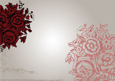 Fondo rojo de la flor de la vendimia original Fotografía de archivo libre de regalías