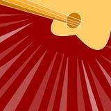 Fondo rojo de la guitarra fotos de archivo libres de regalías