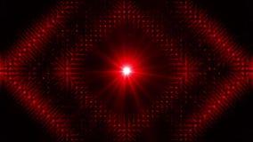 Fondo rojo de la iluminación del disco almacen de metraje de vídeo