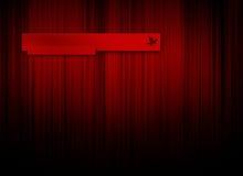 Fondo rojo de la insignia Foto de archivo
