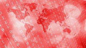 Fondo rojo de la introducción de las noticias de última hora cibernéticas del mundo ilustración del vector