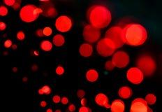 Fondo rojo de la luz del bokeh Fotografía de archivo libre de regalías